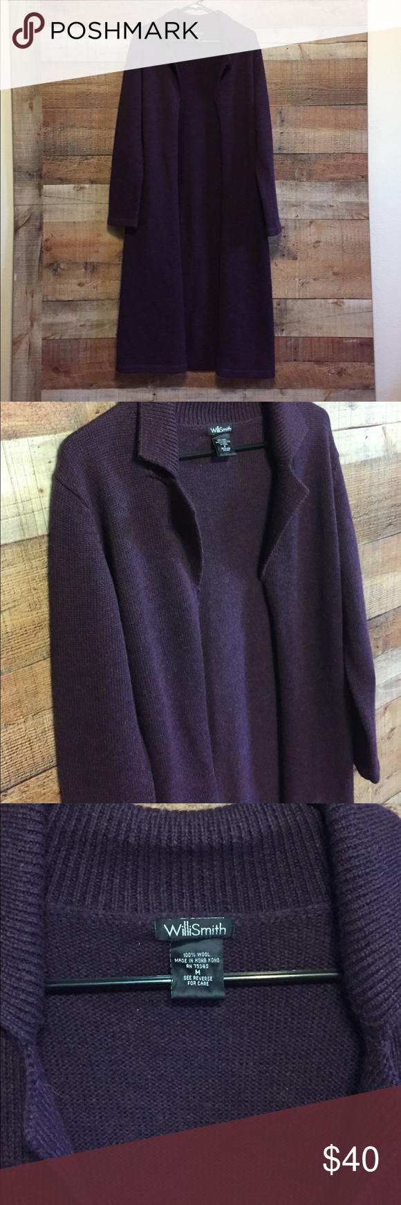 Willi Smith Long Dark Purple Sweater