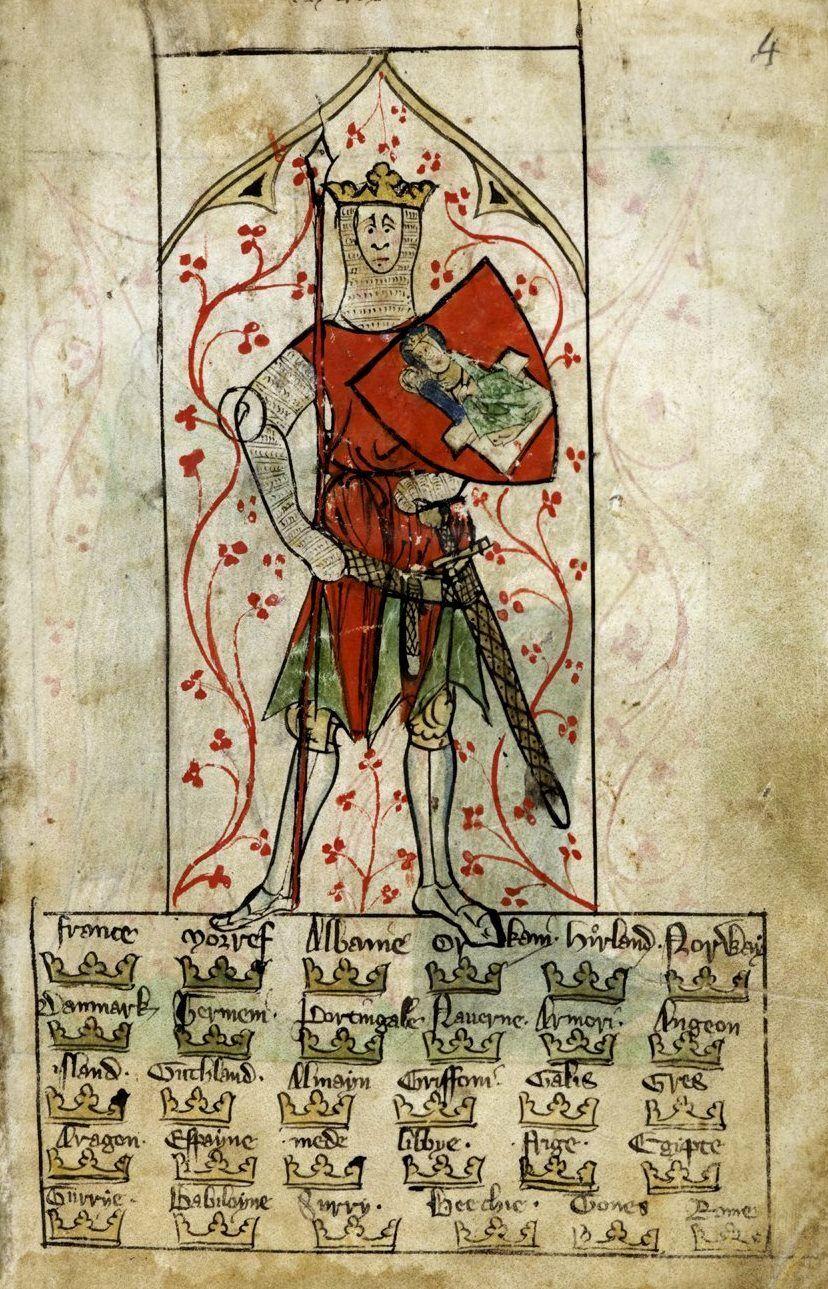 Medieval Imago King Arthur Iluminuras Medievais Iluminuras