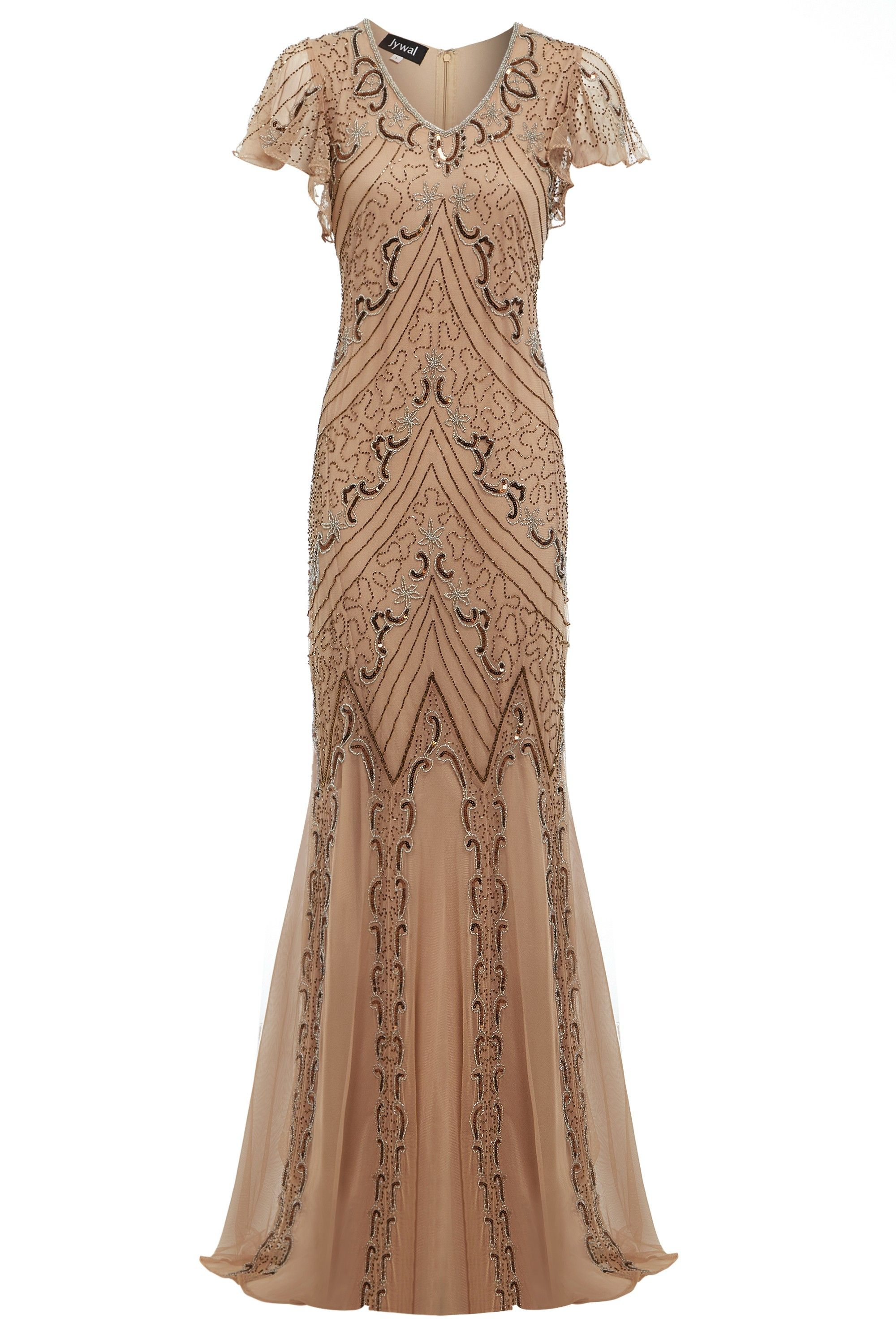 Lily 20s Great Gatsby Style, Embellished Mermaid Gown, Downton Abbey ...