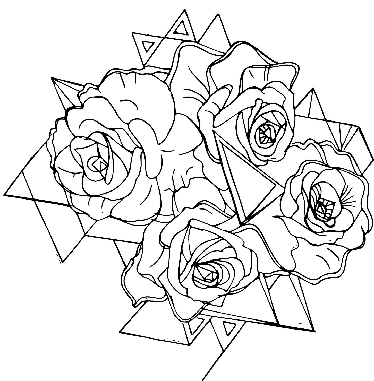 blue roses aesthetic pattern0
