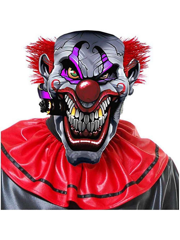 Smokin Joe Evil Clown Mask Partybell Com Evil Clowns Joker Clown Evil Clown Mask