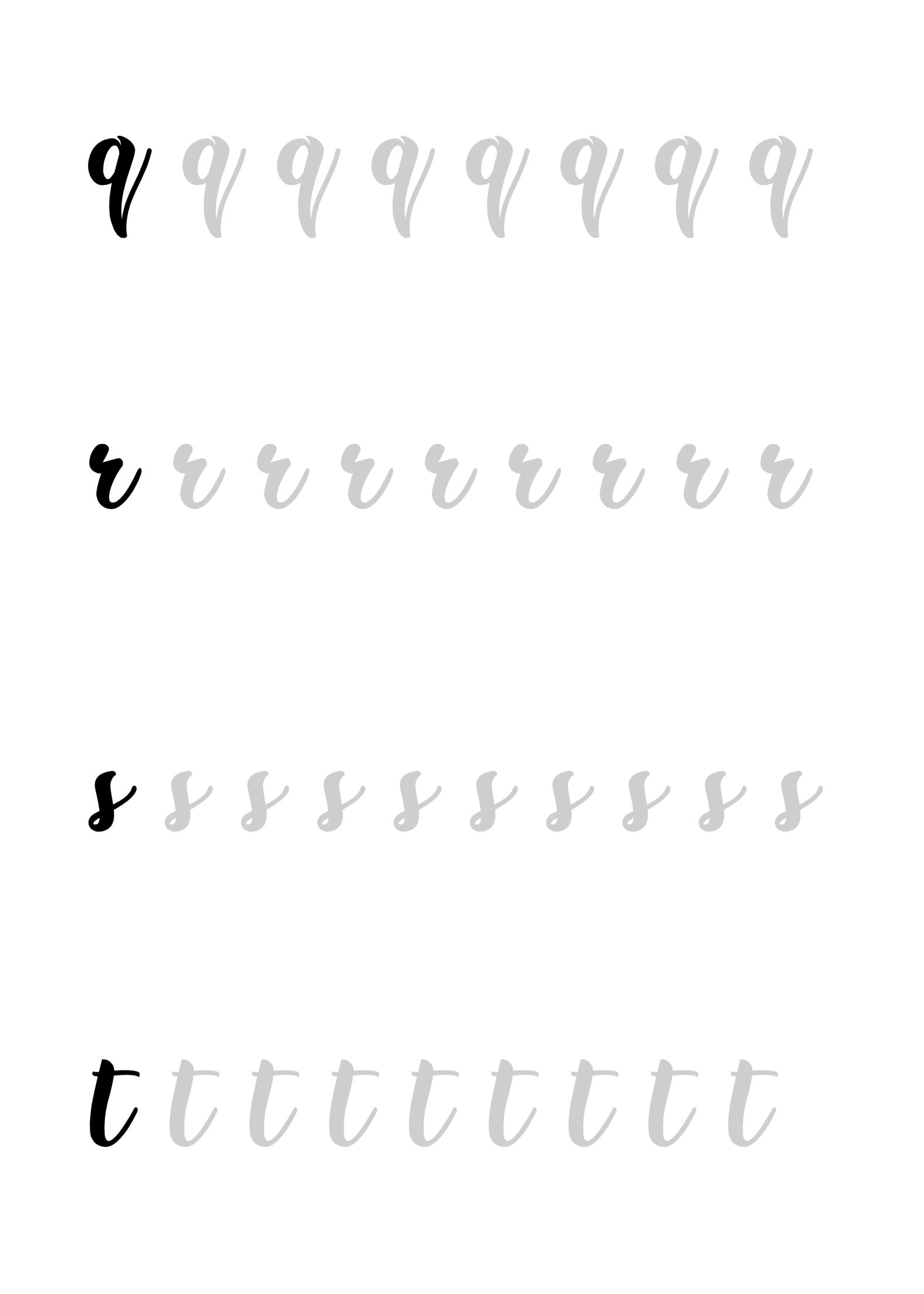 feuille exercices calligraphie réalisée par Caroline ...