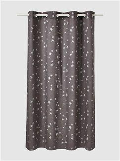 Cortina em tecido pré-lavado, estampado às estrelas