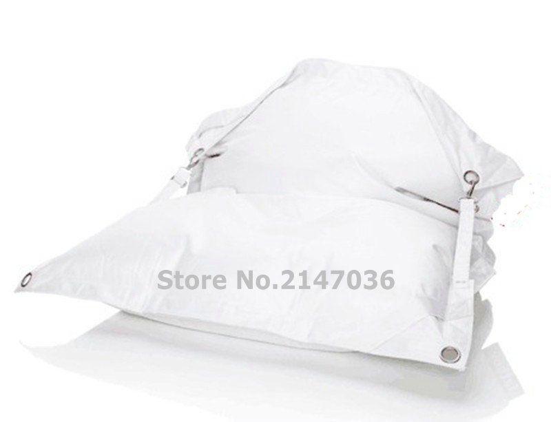 Bag White Outdoor Buckle Bean Chair