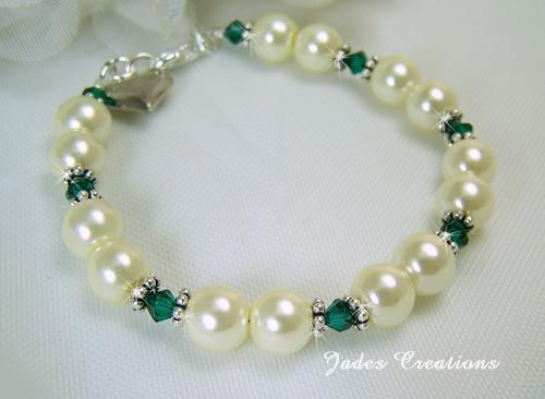 May Birthstone Beaded Bracelet Br05 3 Handcrafted Beaded Jewelry