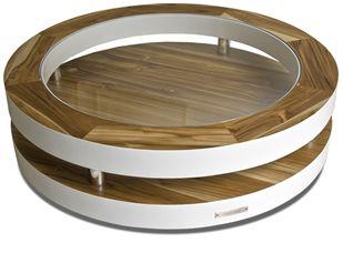 Designer Salon Tafel.Design Salontafel Rond Modern Glas Hout Lak Teak Salon Tafel