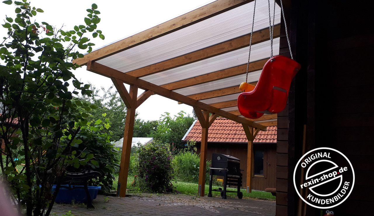 Ein HolzTerrassendach der Marke 7m x 4m mit