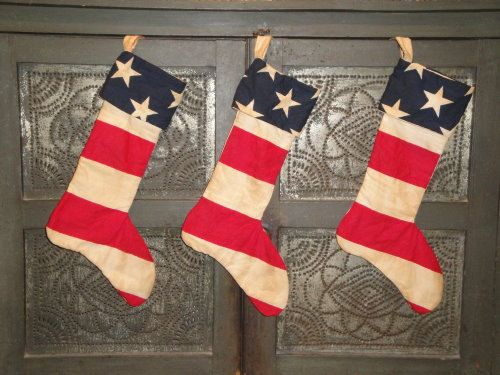 Americana Stocking - Old Glory - Red White And Blue Winter