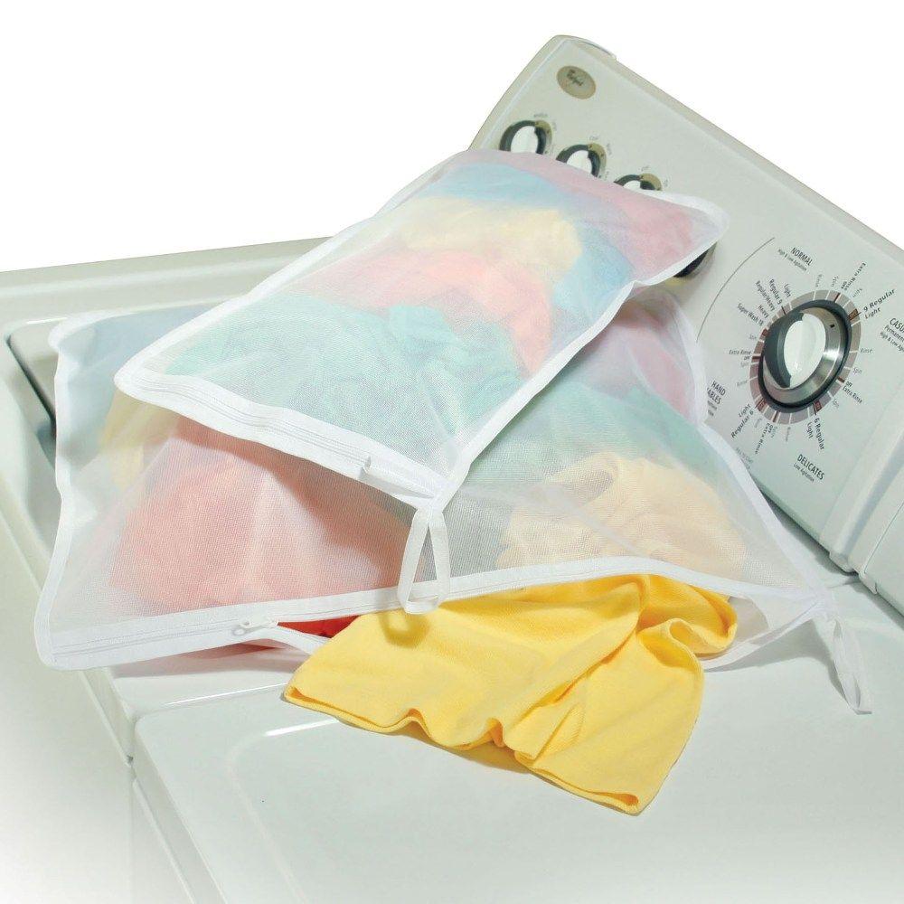 Micro Mesh Laundry Bags Set Of 2 Organize Com