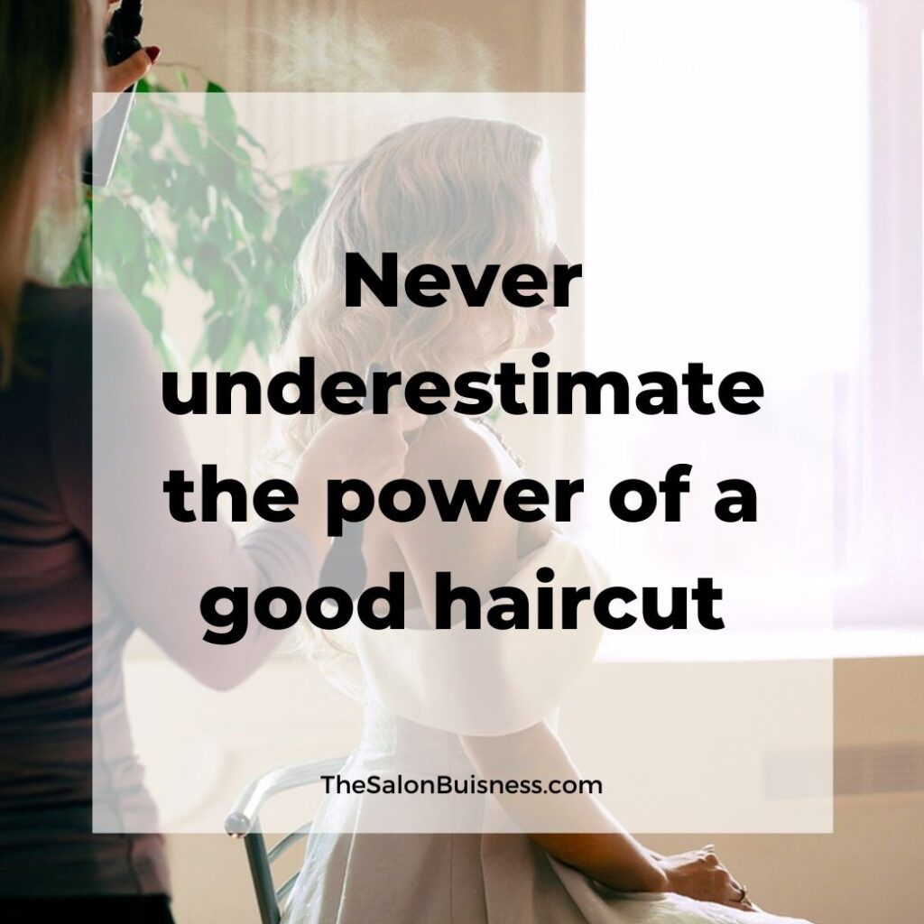 Motivational Haircut Quote Woman With Blonde Hair Done Hair Quotes Funny Hair Quotes Instagram Quotes Captions