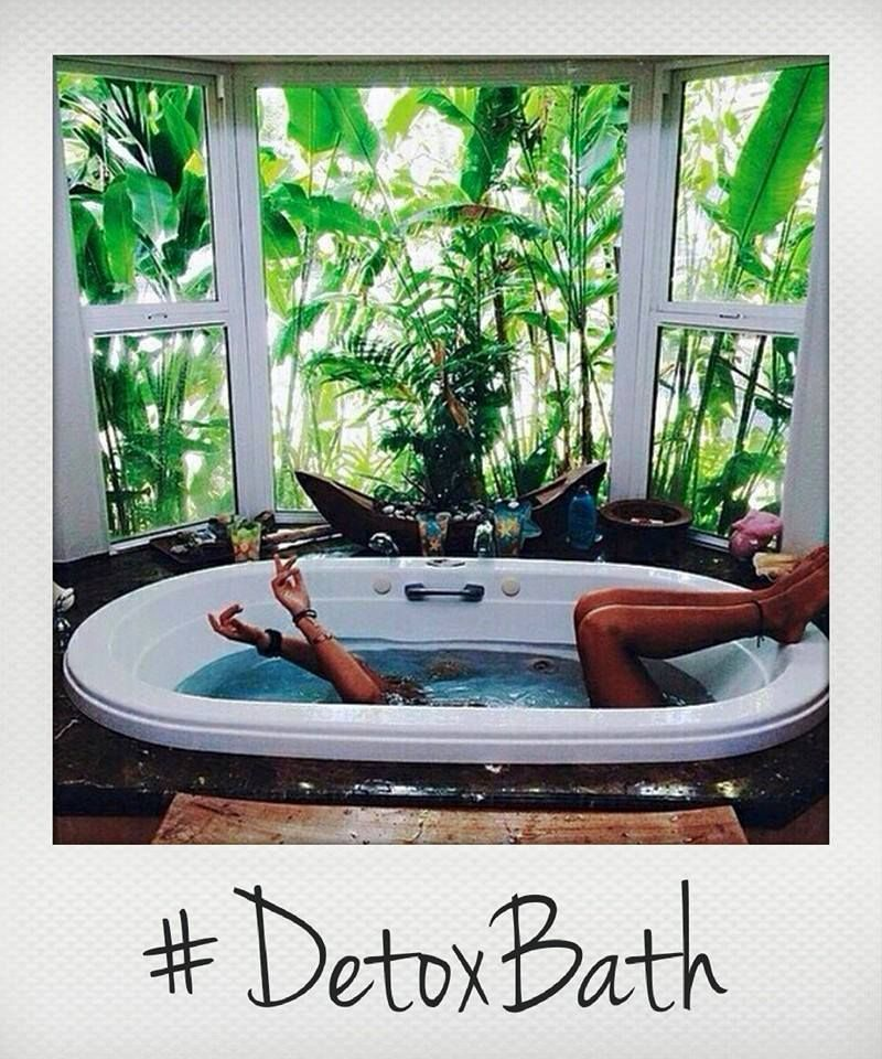Great detox bath recipe for soothing aching muscles and