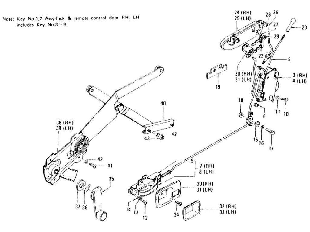 Datsun 240z Door Lock Window Regulator Handle To Jul 73 Wiring Diagram Backup Lights