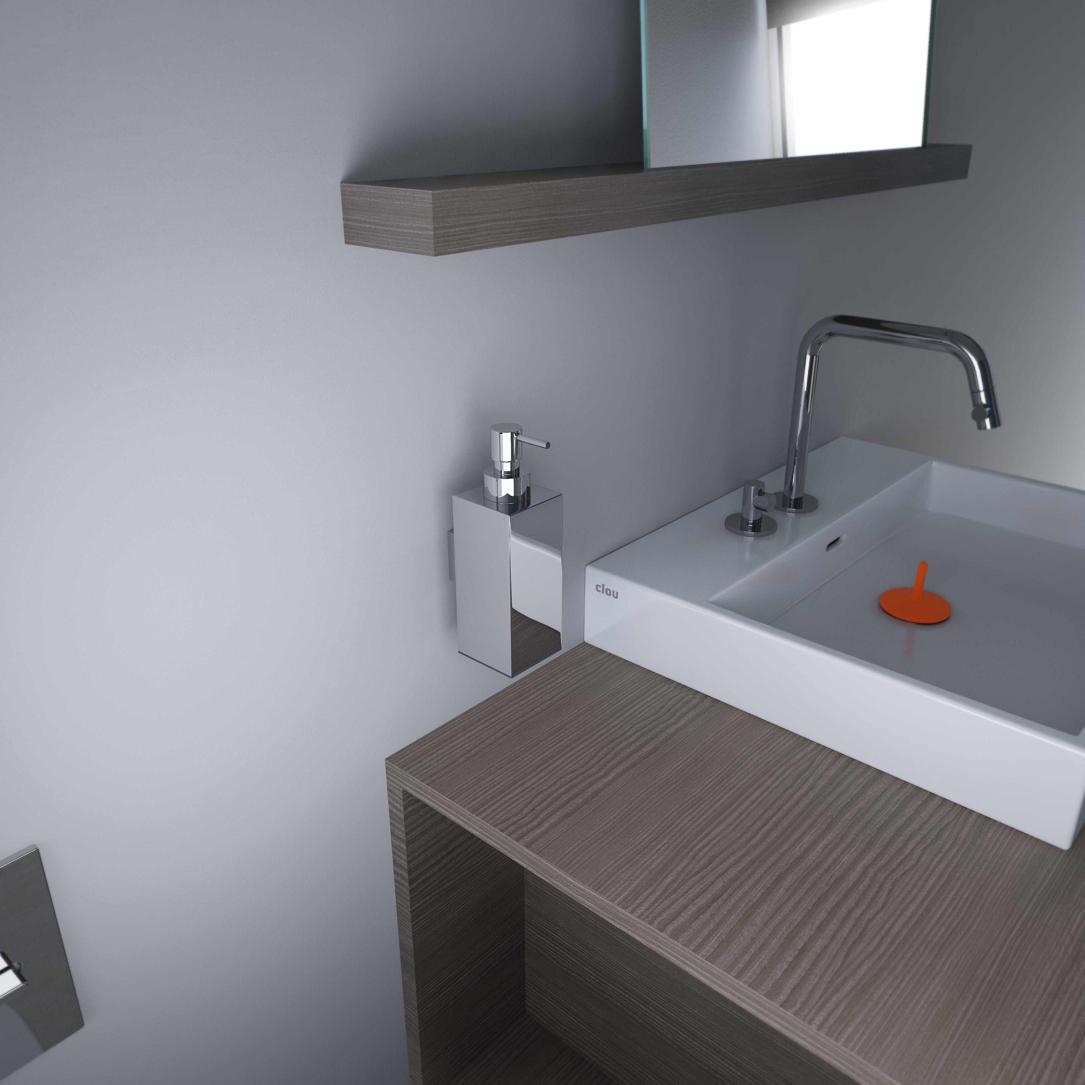 clou quadria wall mounted liquid soap dispenser chrome