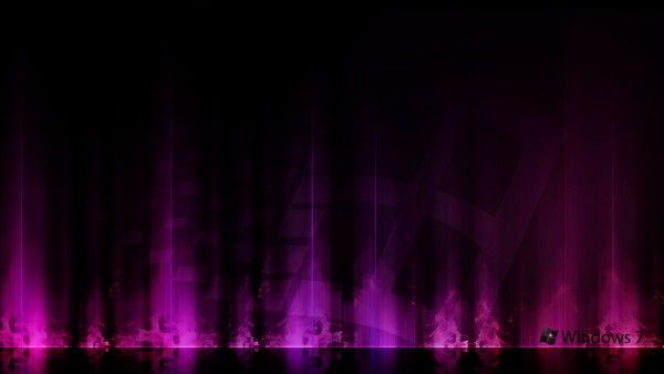 Windows 7 Purple Aurora HD Brands Logos Wallpapers Pinterest