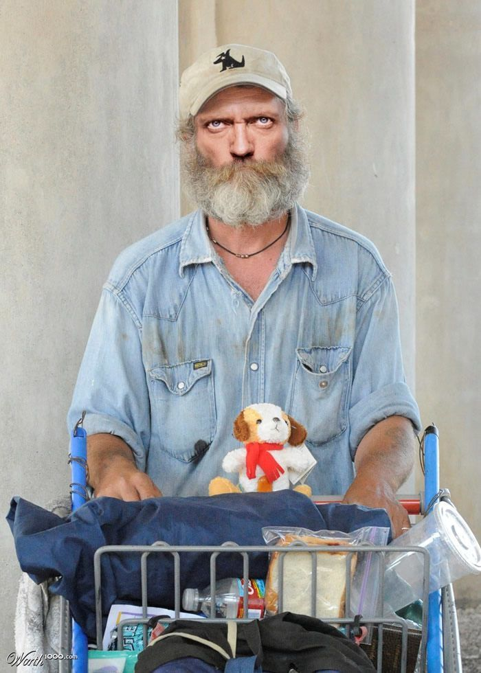What 30 Celebrities Would Look Like If They Were Homeless Celebrities Celebrity Look Homeless