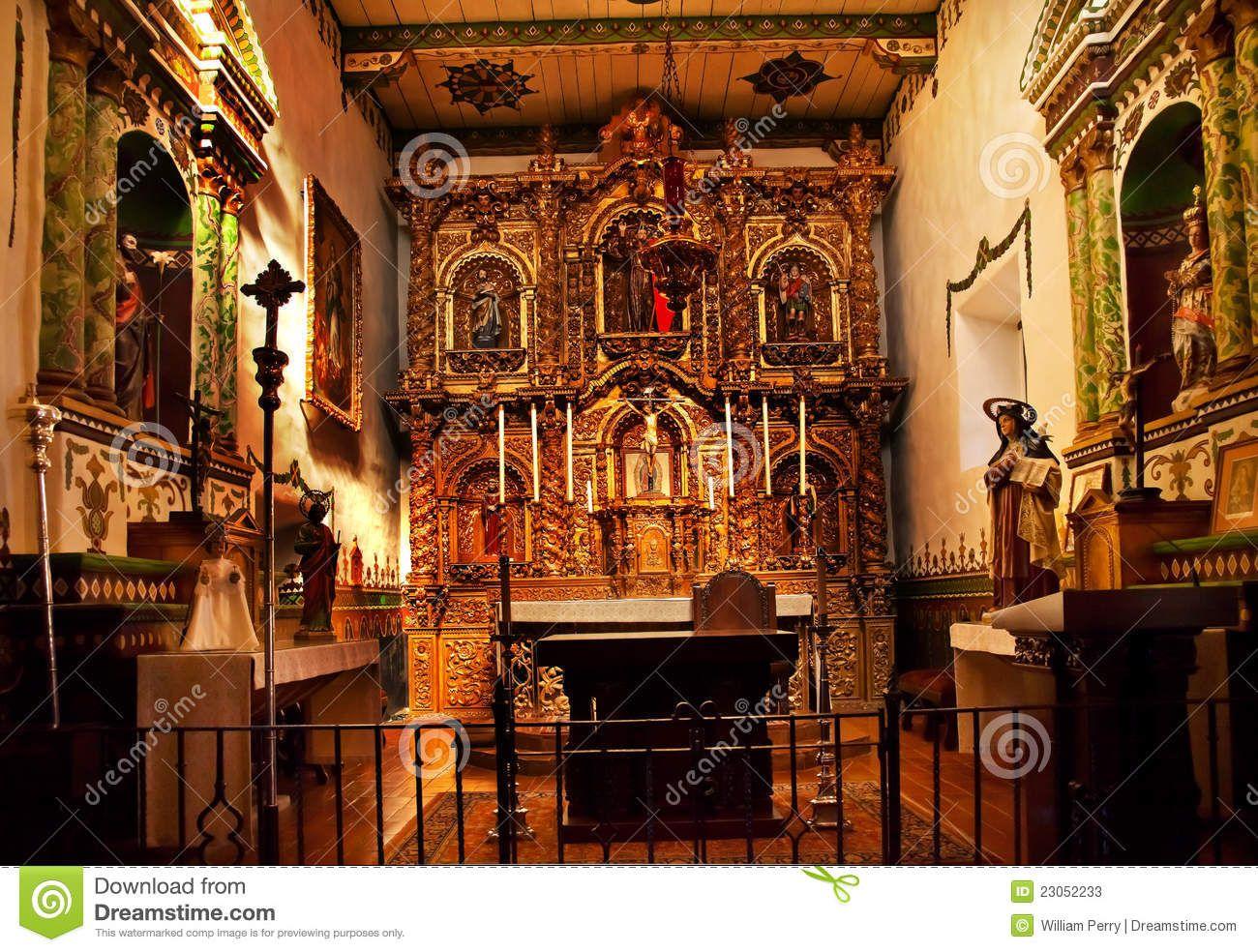 Altar Serra Chapel Mission San Juan Capistrano, California