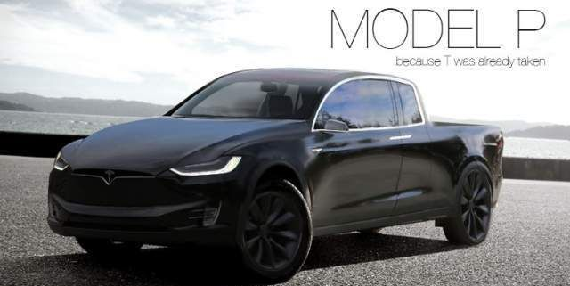 Tesla Pickup Truck Concept Model P Concept Cars Group