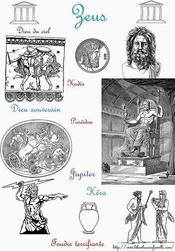 La Grece Avec Trois Dieux Des Freres Zeus Poseidon Et Hades Dieux Grecs Dieux Mythologie Grecque