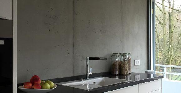 Wand Laminat Küche Braune Mit Laminat An Die Wand Und ...