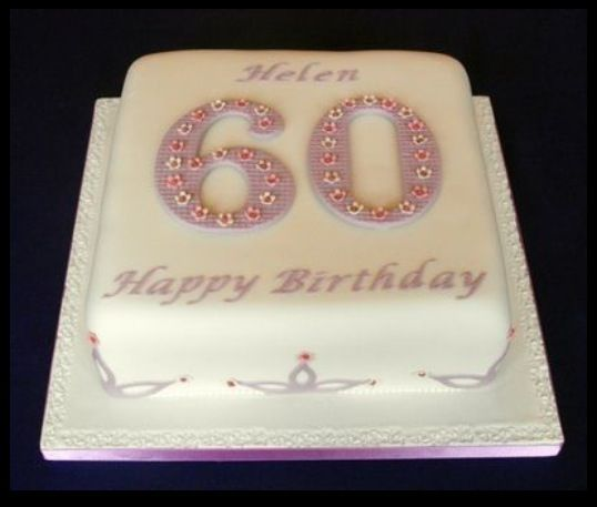 60th birthday cake ideas cakes Pinterest 60th ...