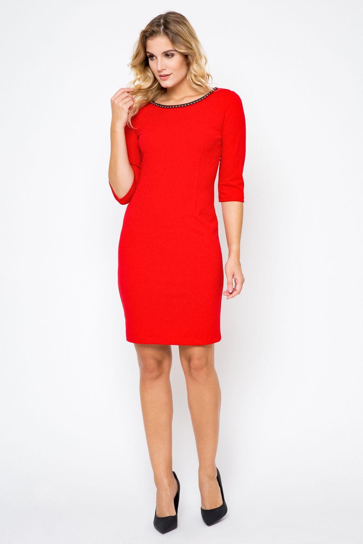 e2d85abbfa Elegancka sukienka XXL 40-54 PLUS SIZE perełki midi Duże rozmiary .