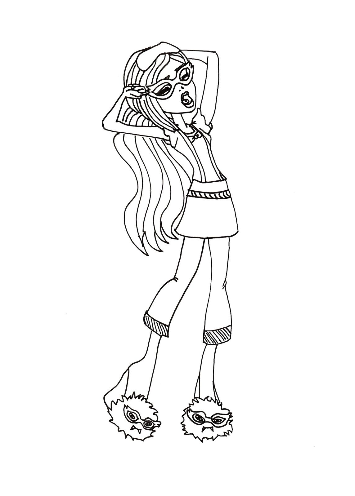 lagoona blue feel sleepy coloring page monster high