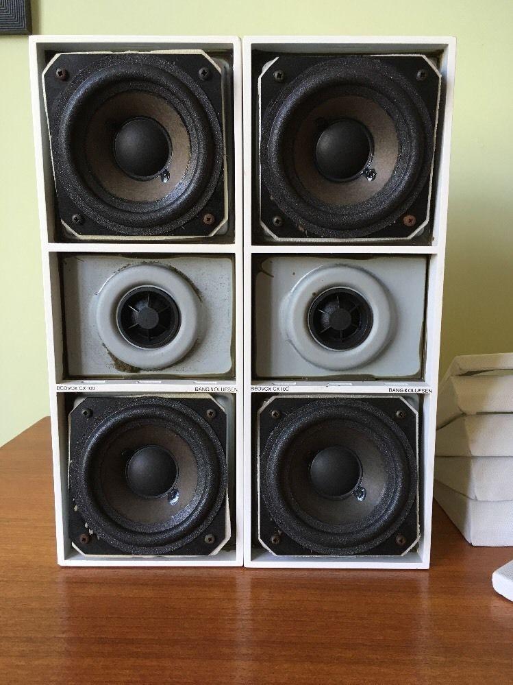 Bang Olufsen Bookshelf Speakers Beovox CX100 White Refurbished Cardiff