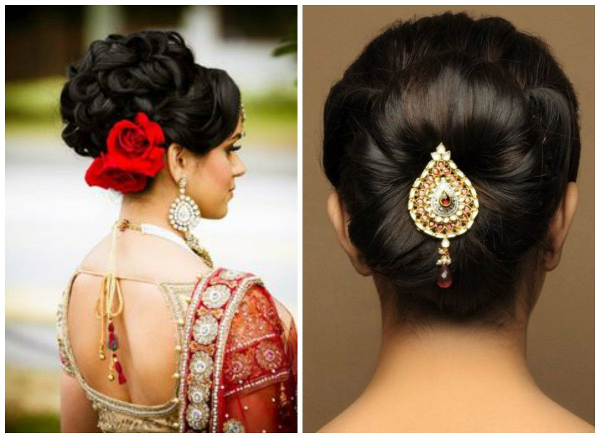1 indian wedding bun hairstyle | hair and makeup | pinterest