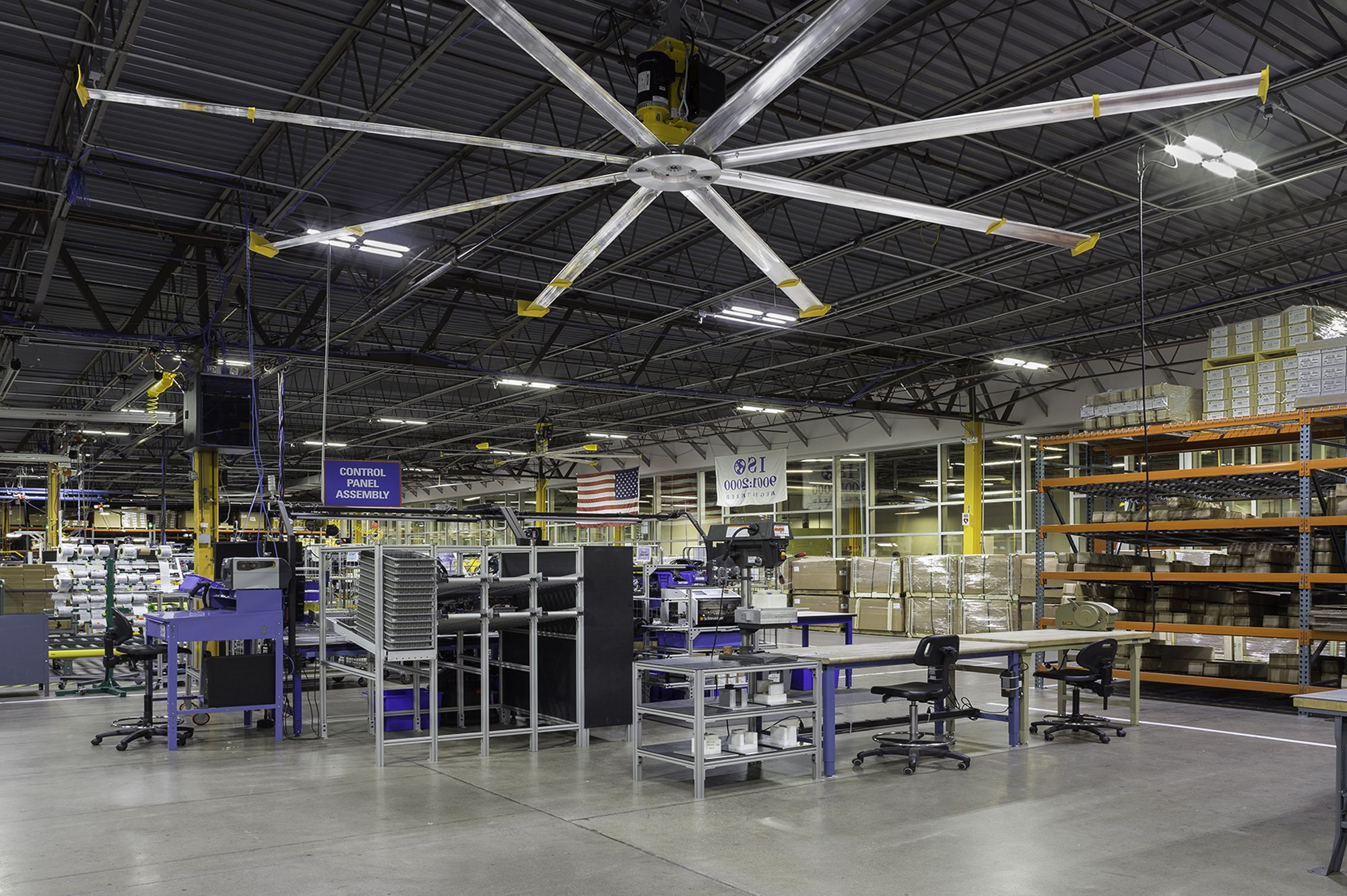 Big Ceiling Fans Australia Powerfoil X3 Is An Hvls Commercial Ceiling Fan With Led