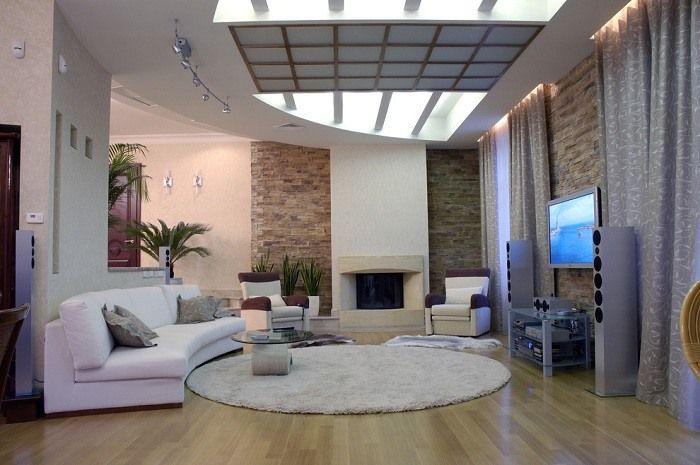 shaggy teppich im modernen wohnzimmer | ideen rund ums haus ... - Teppiche Wohnzimmer Design