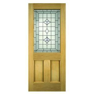 Wickes Avon External Oak Door Glazed 2 Panel 1981 X 838mm Door