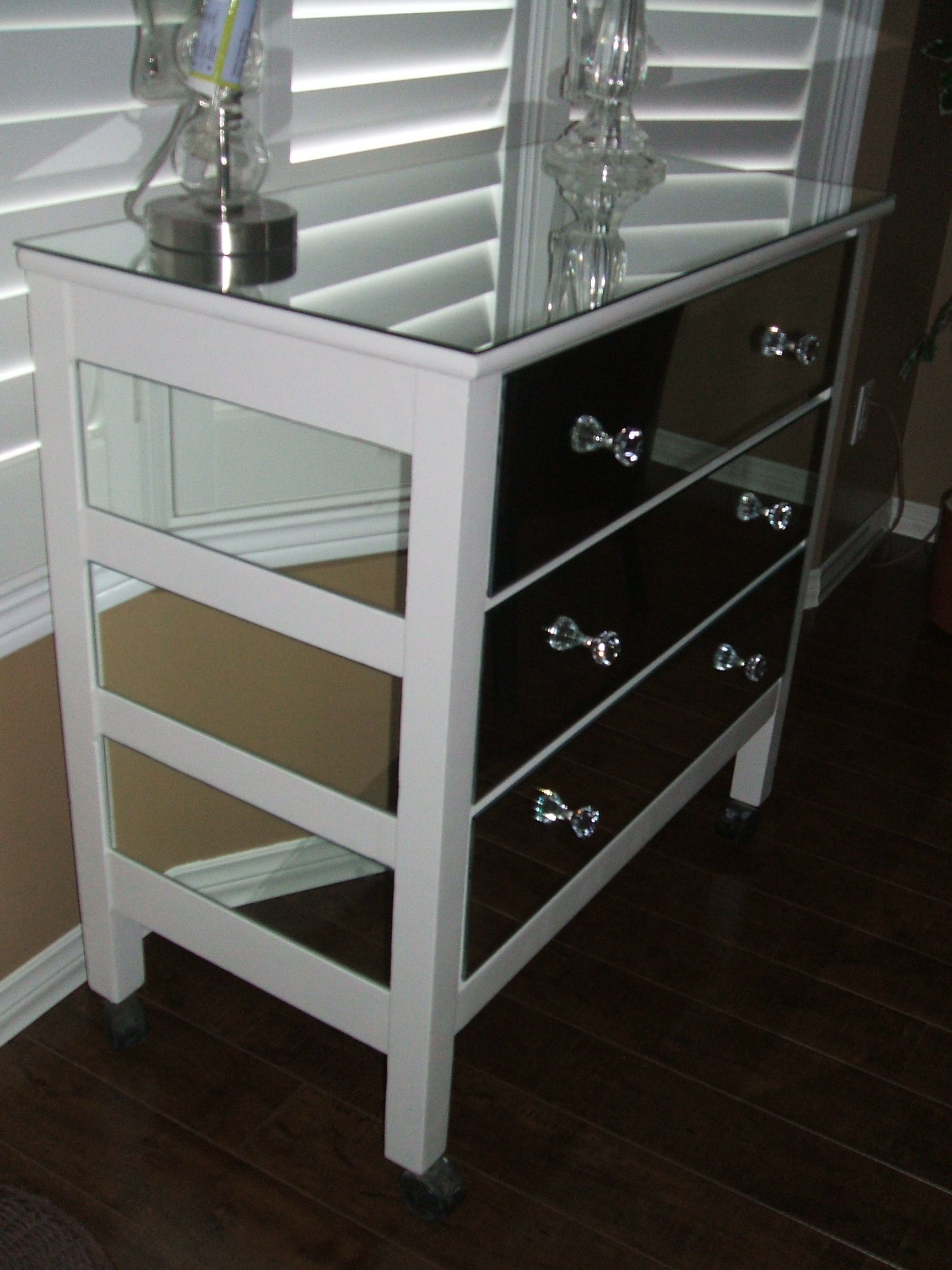 An Old Dresser I Refurbished Painted And Covered In Mirror