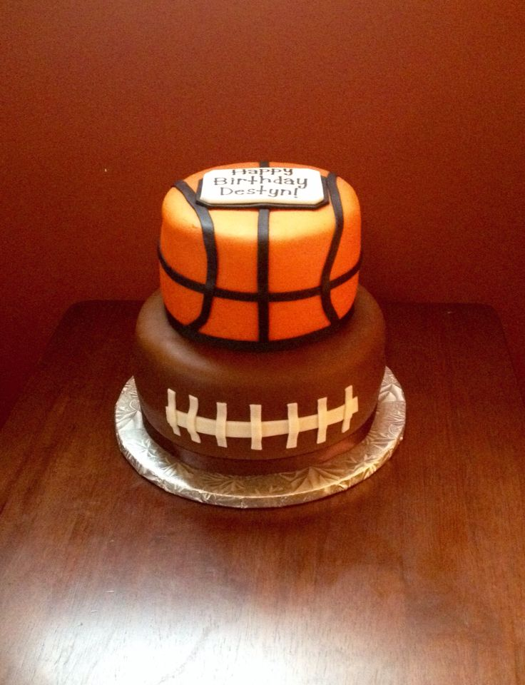 Basketball Football Cake Cake Football Cake Birthday Planning