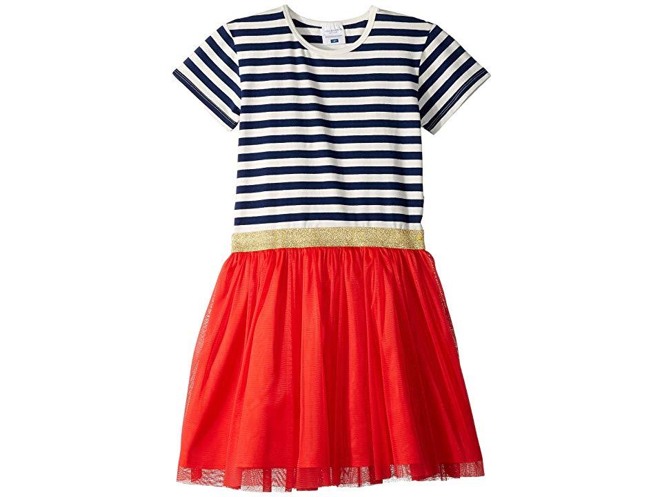 Toddler//Little Kids//Big Kids Toobydoo Baby Girls Striped Tie Tee