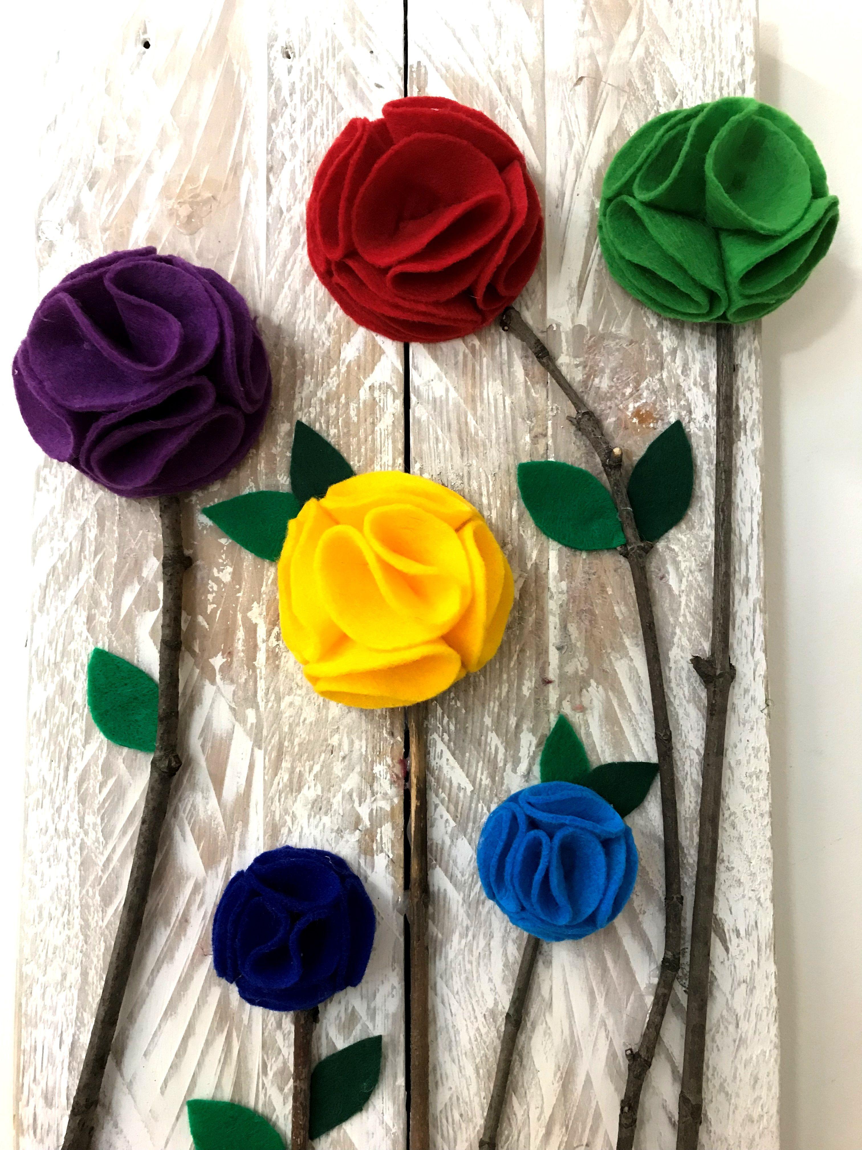 Kwiaty Z Filcu Diy