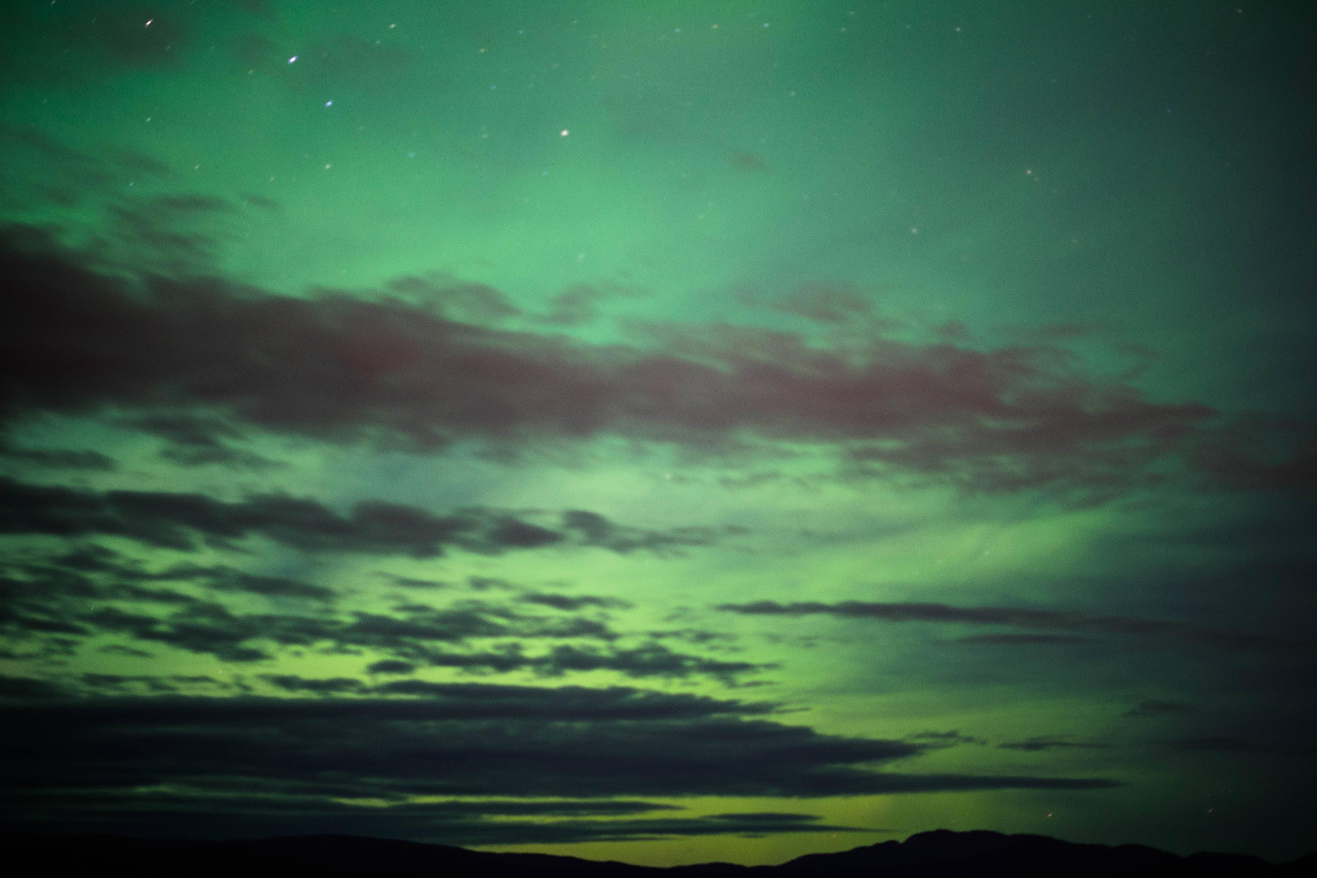 Northern lights in Whitehorse Yukon 10/8/16 [5598x3732] [OC]