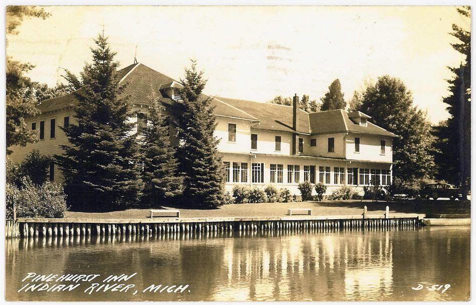 Indian River MI Michigan 1946 Cheboygan Co Indian river