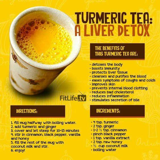 Turmeric Tea Liver Detox Recipe - Video | The WHOot