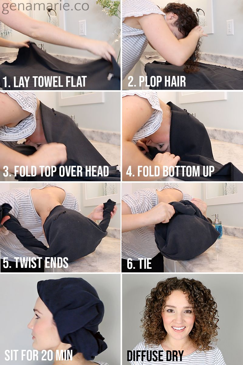 How To Plop Curly Hair In 2020 Plopping Curly Hair Curly Hair Styles Hair Plopping