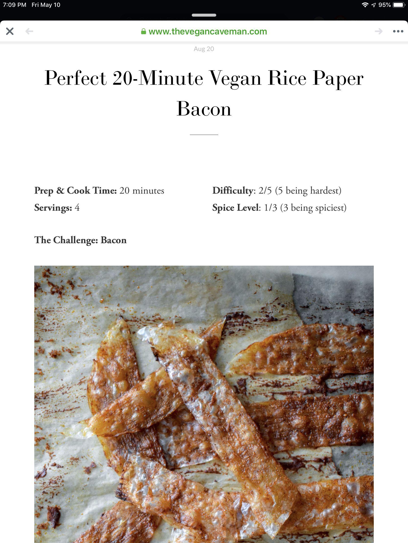 Vegan BLT Sandwich w/ Rice Paper Bacon, Heirloom Tomato