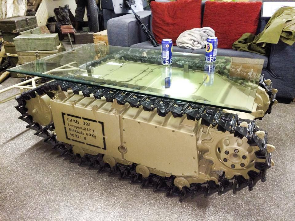 Man Cave With Tank : Cool unusual coffee table tables pinterest