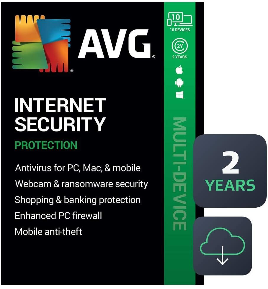 Avg Internet Security 2020 Antivirus Protection Software 10 Devices 2 Years Pc Mac Mobile In 2020 Antivirus Internet Security Antivirus Protection