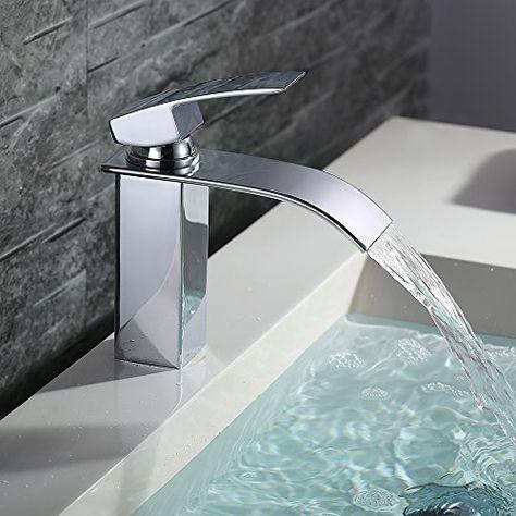 Homelody Elegant Chorm Wasserhahn Einhebel Wasserfall Ar Wasserfall Auslauf Wasserhahn Ist Elegant Und Zeit Armaturen Bad Badarmaturen Waschbecken Armaturen