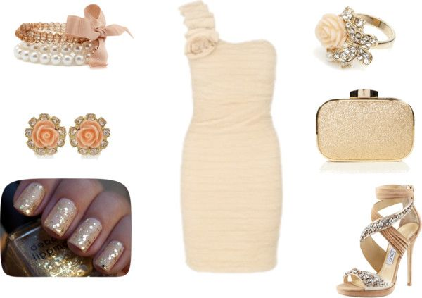 """cream dream"" by gymnast1382 on Polyvore"
