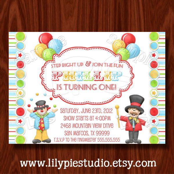 Carnival Circus Invitation