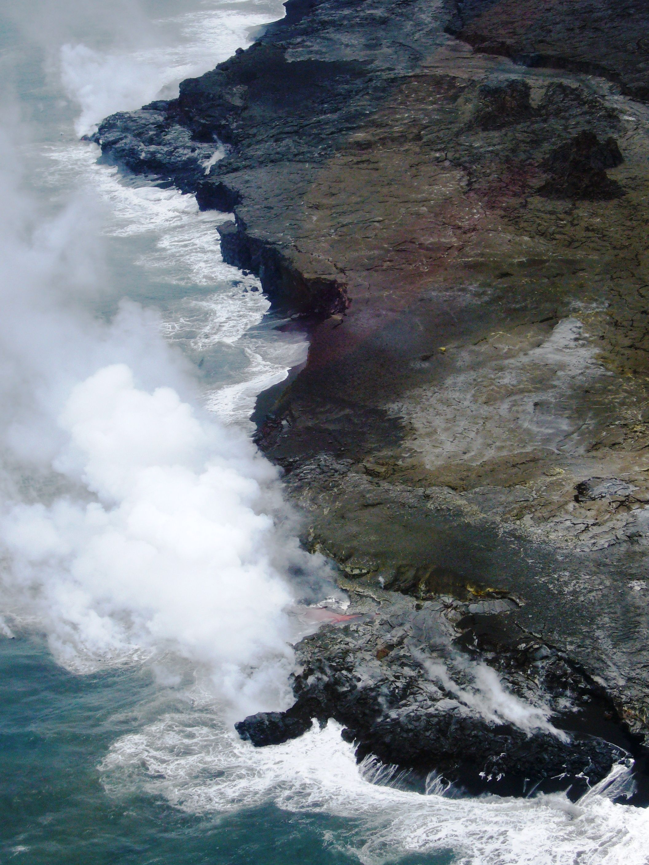 Helicopter Tour Of The Volcanic Activity At Hawaii Volcanoes National Park Hawaii The Park Is