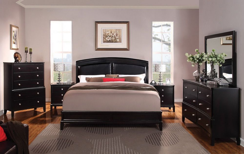 Black Wood Bedroom Furniture purple-paint-colors-for-bedroom-with-dark-furniture-with-hardwood