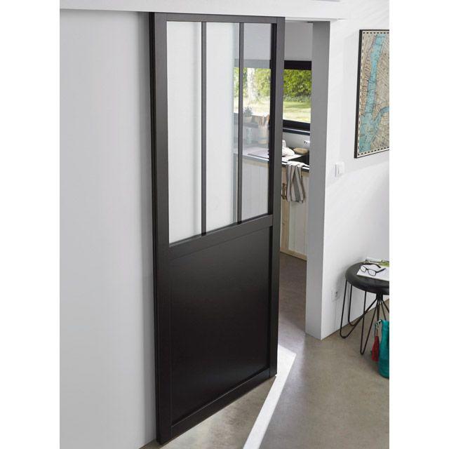 Porte Coulissante Vitrée Atelier Cm Castorama Seule Et Portes - Porte placard coulissante jumelé avec serrurier paris 75019