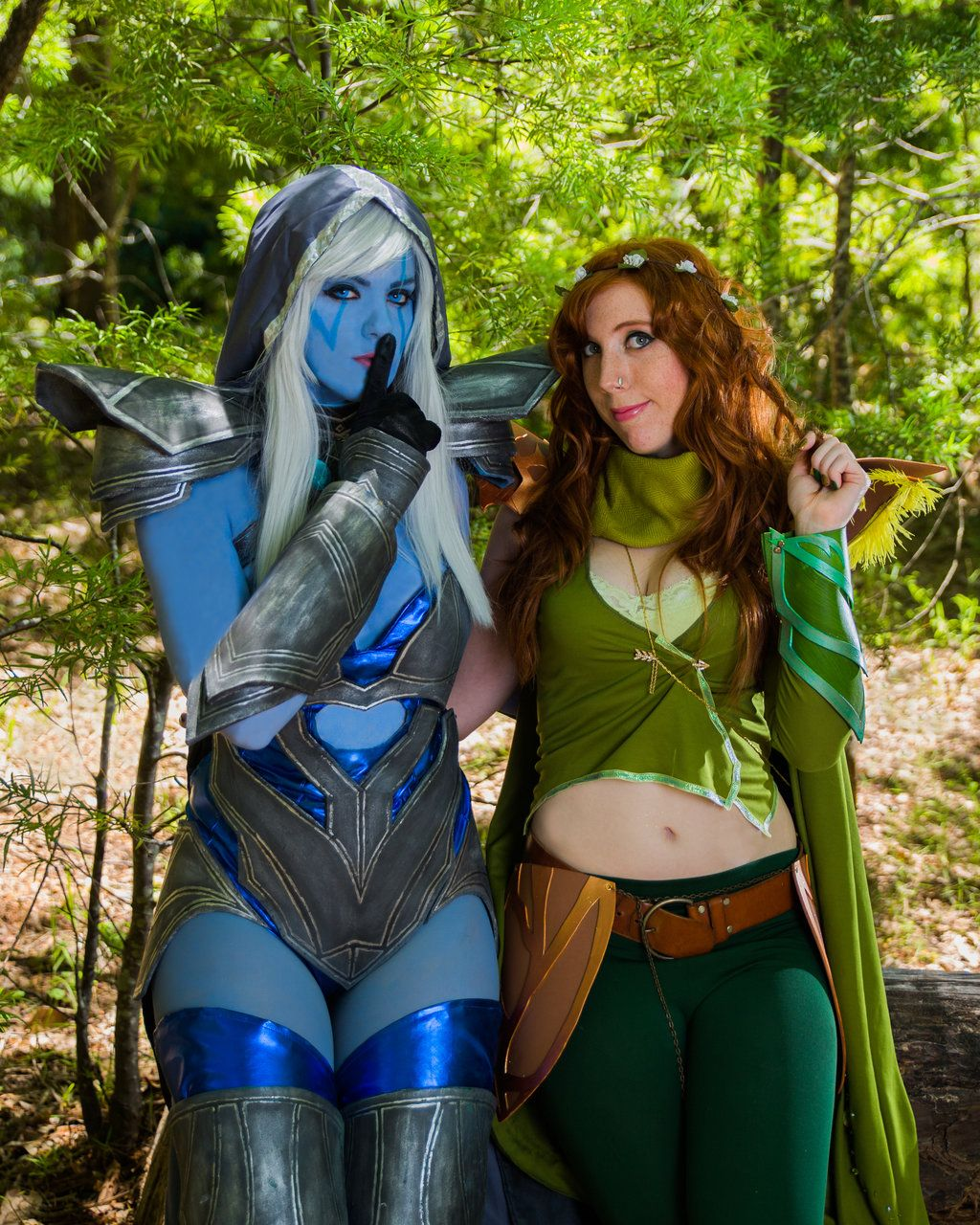 Drow Ranger And Windranger Cosplay From Dota 2 A Dota 2 Cosplay