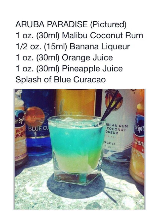 ARUBA PARADISE #Tipsybartender | Adult Beverages | Pinterest